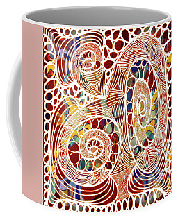 Abstract Bold Colors And Joyful Circles Digital Mixed Media By Omaste Witkowski Coffee Mug