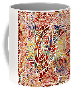 Coffee Mug featuring the digital art Abstract Bold Colors And Zen Circle Designs Digital Mixed Media By Omaste Witkowski  by Omaste Witkowski