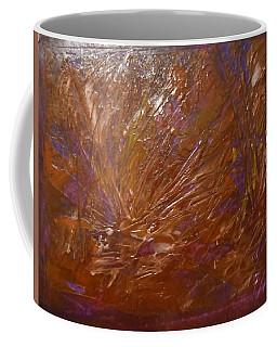 Abstract Brown Feathers Coffee Mug
