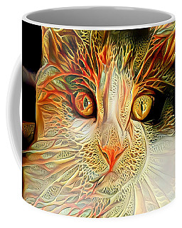 Coffee Mug featuring the digital art Abstract Calico Cat by Don Northup