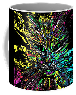 Abstract Cat  Coffee Mug