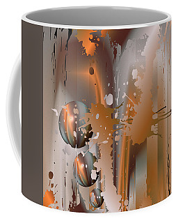 Coffee Mug featuring the digital art Abstract Copper by Robert G Kernodle