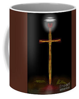 Abstract Cross With Halo Coffee Mug