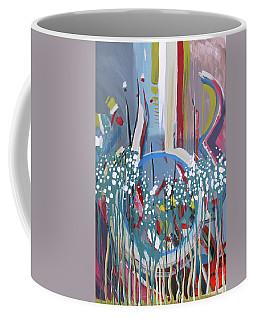 Abstract Floral Circle Coffee Mug