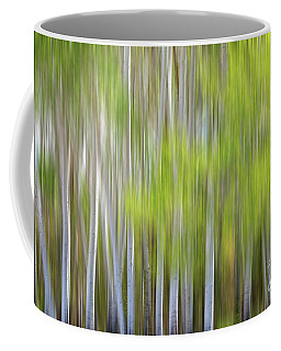 Abstract Forest In Motion Blur Coffee Mug