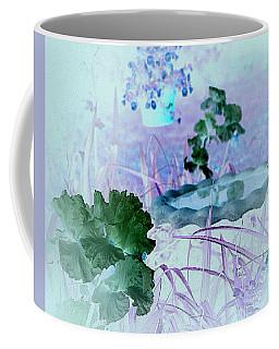 Coffee Mug featuring the digital art Abstract Garden Birdbath by Robert G Kernodle