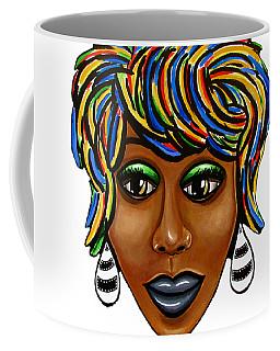 Abstract Art Black Woman Retro Pop Art Painting- Ai P. Nilson Coffee Mug