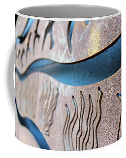 Coffee Mug featuring the photograph Abstract Lake Patricia Sign 1 by Joan Stratton
