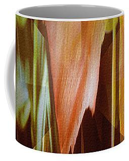 Coffee Mug featuring the digital art Abstract Orange Flower by Robert G Kernodle