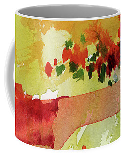 Abstract Red Poppies Panorama Coffee Mug