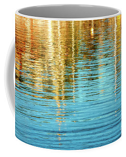 Abstract Reflections In Camden Harbor Maine Coffee Mug