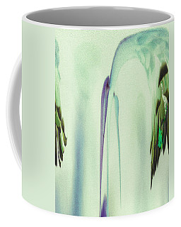 Coffee Mug featuring the digital art Abstract Soothing Green by Robert G Kernodle