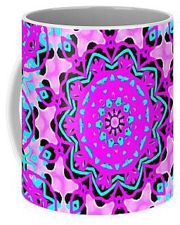 Coffee Mug featuring the digital art Abstract Spun Flower by Catherine Lott