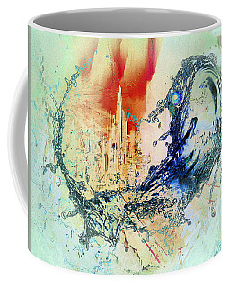 Coffee Mug featuring the digital art Abstract Water Splash by Robert G Kernodle
