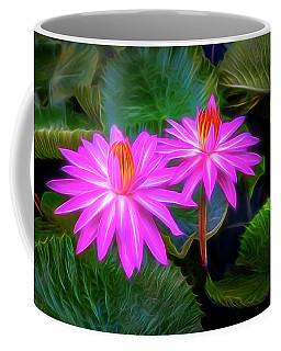 Abstracted Water Lilies Coffee Mug