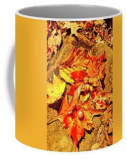 Acorns Fall Maple Oak Leaves Coffee Mug