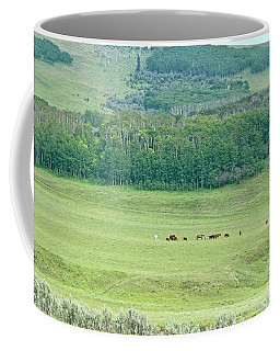 Coffee Mug featuring the photograph Across The Valley by Ann E Robson
