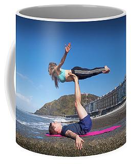 Acroyoga On Aberystwyth Beach Coffee Mug