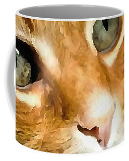 Adorable Ginger Tabby Cat Posing Coffee Mug