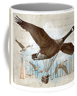 Coffee Mug featuring the drawing Aero Canada by Clint Hansen