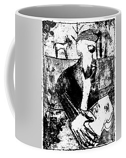 After Childish Edgeworth Black And White Print 26 Coffee Mug