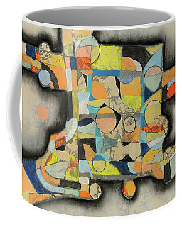 Coffee Mug featuring the painting After The Beach by Mark Jordan