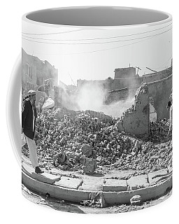 Coffee Mug featuring the photograph After The Collapse by SR Green