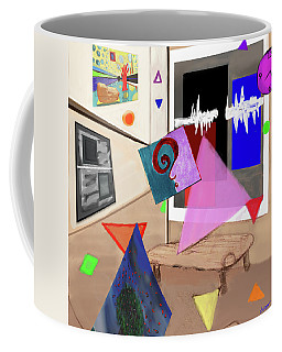 Coffee Mug featuring the digital art Afternoon At The Museum by Teresa Epps