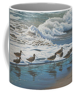 Coffee Mug featuring the painting Afternoon Surf by Peter Mathios