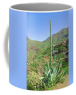 Agave With Flower Spear In Masca Coffee Mug