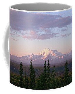 Coffee Mug featuring the photograph Alaska Mountain Sunset by Mark Duehmig