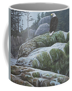 Coffee Mug featuring the painting Alaskan Sentinel by Peter Mathios