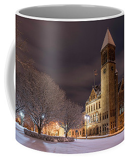 Coffee Mug featuring the photograph Albany City Hall by Brad Wenskoski