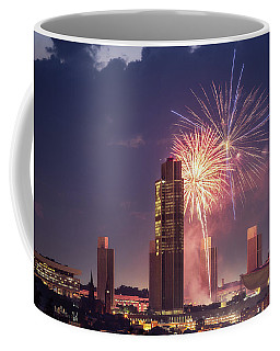 Coffee Mug featuring the photograph Albany Fireworks 2019 by Brad Wenskoski