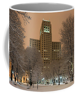 Coffee Mug featuring the photograph Alfred E. Smith Building by Brad Wenskoski
