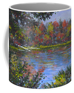 Algonquin Lake Sketch Coffee Mug