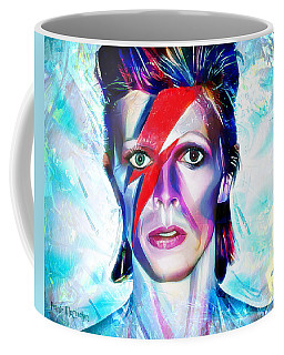 Coffee Mug featuring the digital art Aladdin Sane by Pennie McCracken
