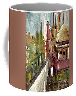 Coffee Mug featuring the painting Mosque  by Nizar MacNojia