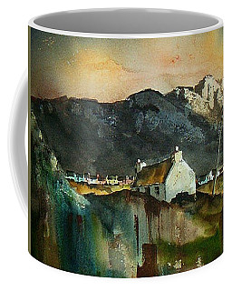 Coffee Mug featuring the painting Allihies Sunset, Beara Peninsula, Co. Cork by Val Byrne