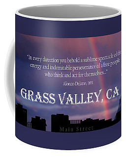 Alonzo Delano Grass Valley Quote Coffee Mug