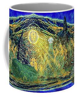 Coffee Mug featuring the digital art Alorial - Shifting Dominion by Mike Braun