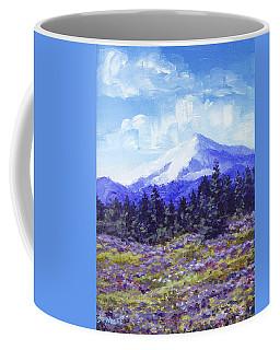 Alpine Meadow Sketch Coffee Mug