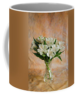 Alstroemeria Bouquet On Canvas Coffee Mug