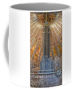 Aluminum Relief Inside The Empire State Building - New York Coffee Mug