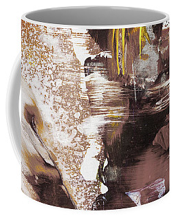 Always On My Mind - Brown Contemporary Abstract Painting Coffee Mug
