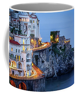 Coffee Mug featuring the photograph Amalfi Coast Italy Nightlife by Nathan Bush