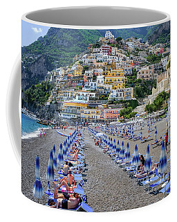 Coffee Mug featuring the photograph The Colorful Beaches And Village Of Amalfi Italy by Robert Bellomy