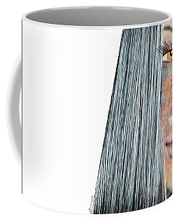 Amber Rose - Woman Abstract Art Coffee Mug