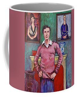 Coffee Mug featuring the painting Amedeo Modigliani by Tom Roderick