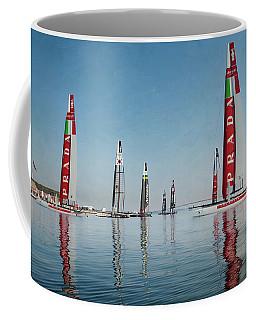America Cup Boat Reflections Coffee Mug